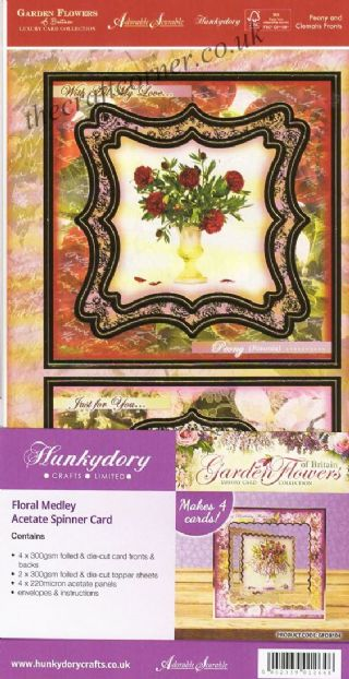 Floral Medley Acetate Spinner Card By Hunkydory